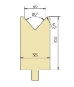 Abkantwerkzeug Typ Trumpf GWD-T040/80°/R5