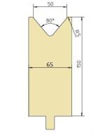 Abkantwerkzeug Typ Trumpf GWD-T050H/80°/R5