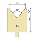 Abkantwerkzeug Typ Trumpf GWD-T070/80°/R5