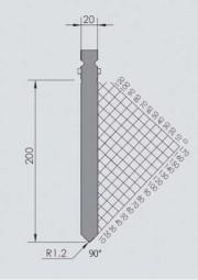 Abkantwerkzeug Typ Wila BIU-036