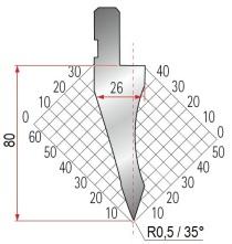 Abkantwerkzeug Typ Amada 1035 35° R0,5