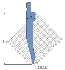 Abkantwerkzeug Typ Amada 1311 26° R0,8