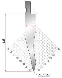 Abkantwerkzeug Typ Amada 1052 30° R0,5