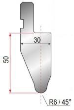 Abkantwerkzeug Typ Amada 1054 45° R6