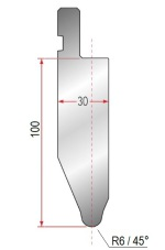 Abkantwerkzeug Typ Amada 1053 45° R6