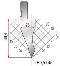 Abkantwerkzeug Typ Amada 1024 45° R0,5
