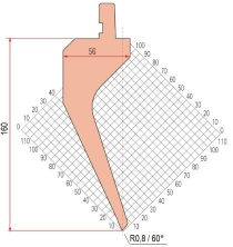 Abkantwerkzeug Typ Amada 1190 60° R0,8