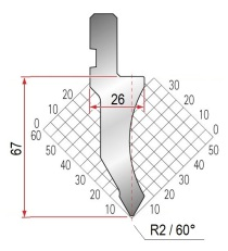 Abkantwerkzeug Typ Amada 1027 60° R2