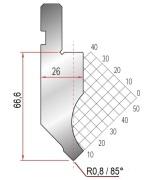 Abkantwerkzeug Typ Amada 1260 85° R0,8 H66,6