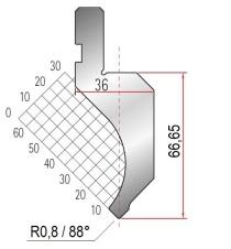 Abkantwerkzeug Typ Amada 1081 88° R0,8