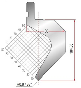 Abkantwerkzeug Typ Amada 1082 88° R0,8