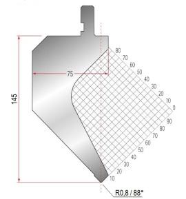 Abkantwerkzeug Typ Amada 1030 88° R0,8