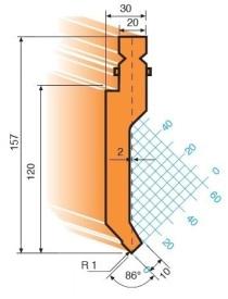 Abkantwerkzeug Typ Trumpf GWP-T201