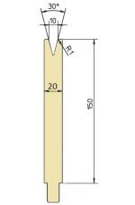 Abkantwerkzeug Typ Trumpf GWD-T010H/30°/R1