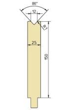 Abkantwerkzeug Typ Trumpf GWD-T012H/86°/R1