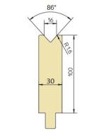 Abkantwerkzeug Typ GWD-T016/86°/R1,6