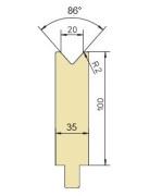 Abkantwerkzeug Typ Trumpf GWD-T020/86°/R2