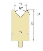 Abkantwerkzeug Typ Trumpf GWD-T040/86°/R3
