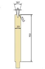 Abkantwerkzeug Typ Trumpf GWD-T006H/30°/R0,6