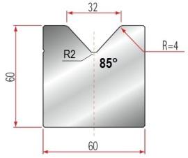 1V-Matrize Typ Amada GWD-2020/V32/85°/R4