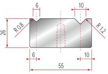Amada 2V-Matrize 88° GWD-2046-88°