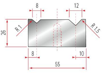 Amada 2V-Matrize GWD-2041-88°