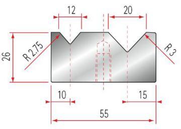 Amada 2V-Matrize GWD-2013-88°