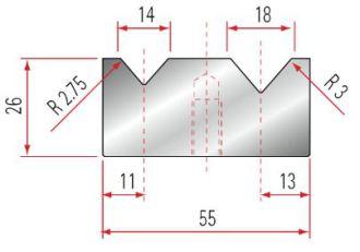 Amada 2V-Matrize GWD-2032-88°