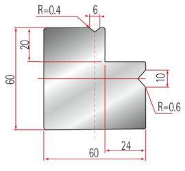 Amada 2V-l-Matrize GWD-2028-90°