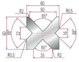 4V-Matrize Typ Amada GWD-2030-85°/88°