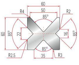 4V-Matrize Typ Amada GWD-2067-85°
