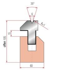 Pneumatische Zudrückmatrize Amada V6-35°