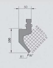 Abkantwerkzeug Typ Wila GWP-W403-86°/R1