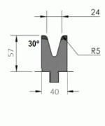Matrize Typ Pro GWD-W405/V24-30°-R5