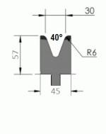 Matrize Typ Pro GWD-W406/V30-40°-R6