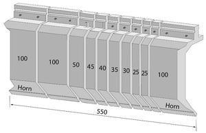 Systemeinteilung 550mm sektioniert