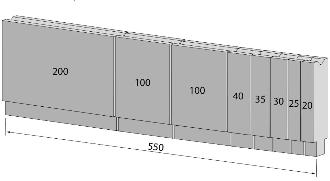 Einteilung Unterwerkzeuge 550mm