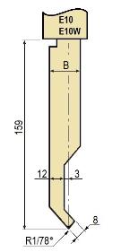 Stempel GWP-LE10-78°/R1/H159
