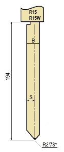 Stempel GWP-LR15-78°/R3/H194
