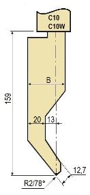 Stempel GWP-LC10-78°/R2/H159