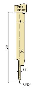 Stempel GWP-LP15.8-20°/R2/H194