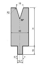 Matrize GWD-L016/V16-30°-R2