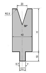 Matrize GWD-L020/V20-30°-R2,5