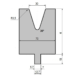 Matrize GWD-L030/V30-30°-R3,5