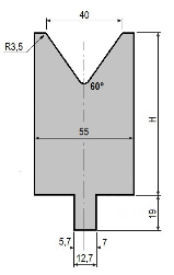 Matrize GWD-L040/V40-60°-R3,5