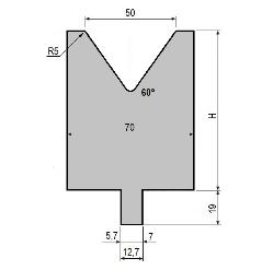 Matrize GWD-L050/V50-60°-R5