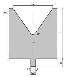 Matrize GWD-L100/V100-60°-R6
