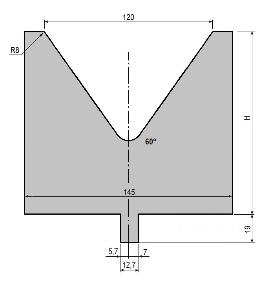 Matrize GWD-L120/V120-60°-R8
