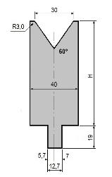 Matrize GWD-L030/V30-60°-R3