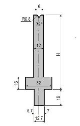 Matrize GWD-L006/V6-78°-R0,8